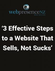 Article Cover Image '3 Effective Steps to a Website That Sells, Not Sucks' - Web Presence NZ
